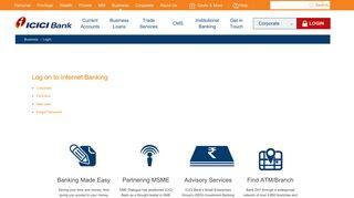 Business Banking - Login - ICICI Bank