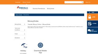 Remit Money Online, Business Remittance Services - ICICI Bank USA