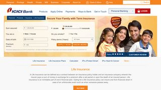 Life Insurance - Life Insurance Policy Types & Plans Details - ICICI Bank