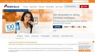 Generate Password - Generate User ID - ICICI Bank