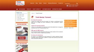 ICICI Prudential Mutual Funds >Track & Transact