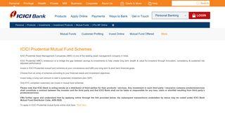 ICICI Prudential Mutual Fund Schemes   ICICI Bank India