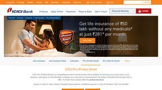 ICICI Pru iProtect Smart Life Insurance Plan - ICICI Bank