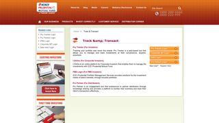 Track & Transact - ICICI Prudential Mutual Fund