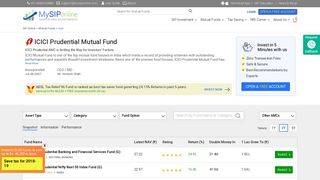 ICICI Prudential Mutual Fund NAV, Best ICICI Mutual Fund online ...