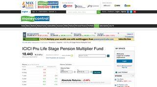 ICICI Pru Life Stage Pension Multiplier Fund: Latest ICICI Pru Life ...