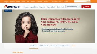 Safe Banking for online Services | Safe Internet Banking | ICICI Bank