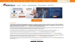 Corporate Banking | Login | ICICI Bank Online