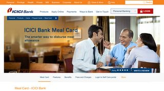Meal Card | Food and Meal Card in India | Employee ... - ICICI Bank
