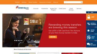 ICICI Bank Canada: Money Transfer, Financial Services & Personal ...