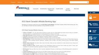 Mobile Banking App - ICICI Bank Canada