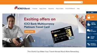 Multi Currency Platinum Travel Card - ICICI Bank