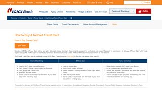 How to Buy & Reload Travel Card - ICICI Bank