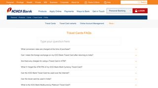 Travel Cards Faqs - ICICI Bank Answers