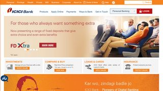 ICICI Bank: Personal Banking, Online Banking Services