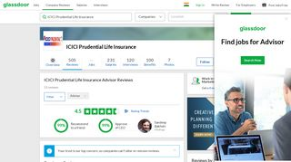 ICICI Prudential Life Insurance Advisor Reviews | Glassdoor.co.in