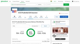 ICICI Prudential Life Insurance Advisor Salaries | Glassdoor.co.in