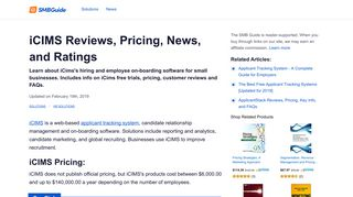 iCims Reviews, Pricing, Key Info, and FAQs - The SMB Guide