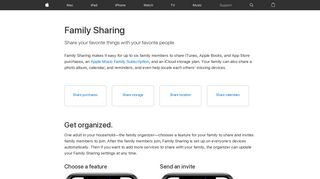 Family Sharing - Apple Support