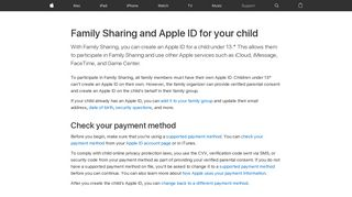 Family Sharing and Apple ID for your child - Apple Support