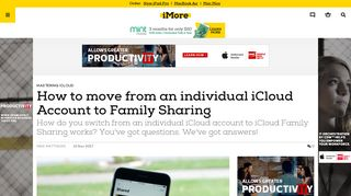 How to move from an individual iCloud Account to Family Sharing ...