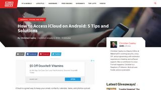 How to Access iCloud on Android: 5 Tips and Solutions - MakeUseOf