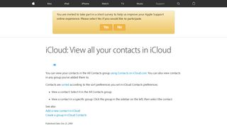 iCloud: View all your contacts in iCloud - Apple Support