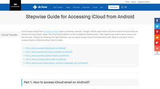5 Ways to Access iCloud from Android - Stepwise Guide- dr.fone