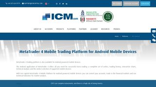 MT4 Android - ICM Capital