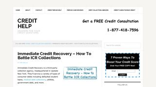 Immediate Credit Recovery – How To Battle ICR Collections