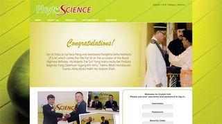 Member Login - PHYTO SCIENCE SDN BHD