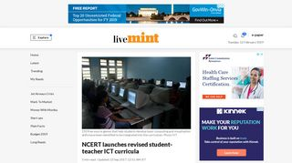 NCERT launches revised student-teacher ICT curricula - Livemint