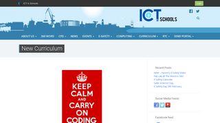 New Curriculum | ICT in Schools