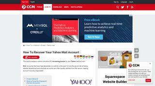 How To Recover Your Yahoo Mail Account - Ccm.net