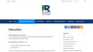 Education – Idaho Realtors®