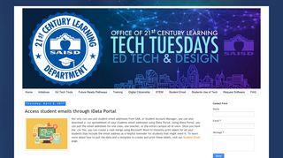 SAISD Ed Tech & Design: Access student emails through iData Portal