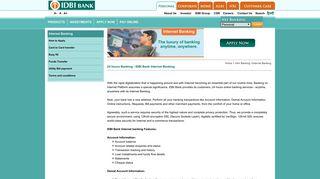 Internet Banking - IDBI Bank