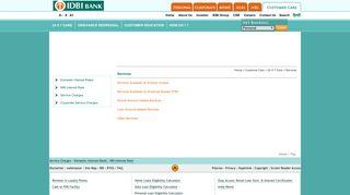 Services - IDBI Bank