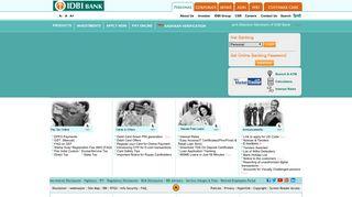 IDBI Bank: Personal & Corporate Banking   MSME & Agri banking