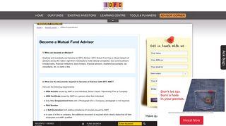 Mutual Fund Advisor: Become an Advisor - IDFC Mutual Fund