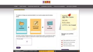 Please update your contact details - IDFC - Mutual fund