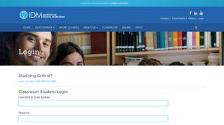 Login | Digital Marketing Certification Courses | IDM Australia