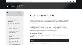 Red Hat Enterprise Linux 6 8.3. Logging into IdM - Red Hat Customer ...
