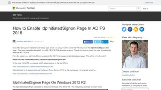 How to Enable IdpInitiatedSignon Page In AD FS 2016 – 250 Hello
