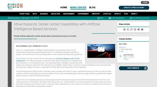 Idrive Expands Global Center Capabilities with Artificial Intelligence ...