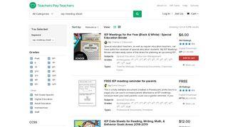 Iep Meeting Sheet Teaching Resources | Teachers Pay Teachers