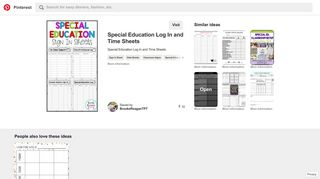 Special Education Sign In Sheets! - Pinterest