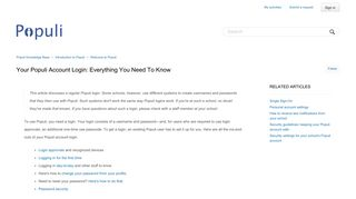 Your Populi account login: everything you need to know – Populi ...
