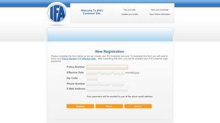 IFA Insurance - Customer Registration - IFA Auto Insurance