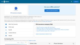 IFA insurance company (IFA): Login, Bill Pay, Customer Service and ...